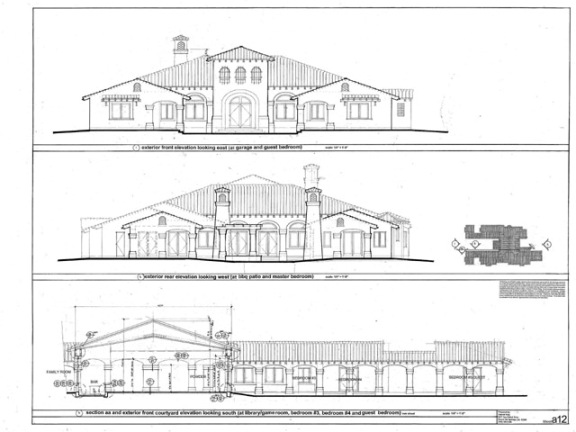 Elevation Plan In Spanish : Gabriel king associates home plans new plan